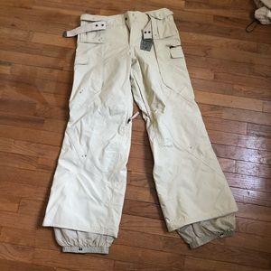 Burton ski pants with buckle